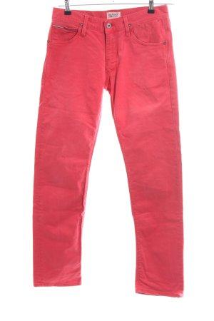 Hilfiger Denim Straight-Leg Jeans rot Casual-Look