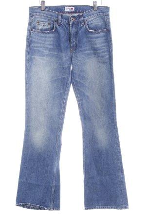 Hilfiger Denim Straight-Leg Jeans blau Bleached-Optik