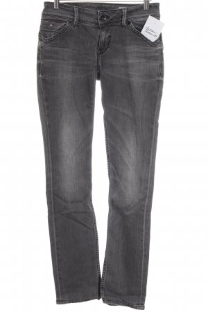 Hilfiger Denim Straight-Leg Jeans grau-anthrazit Street-Fashion-Look