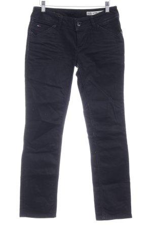 Hilfiger Denim Straight-Leg Jeans schwarz Biker-Look