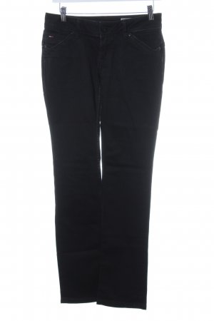 Hilfiger Denim Straight-Leg Jeans schwarz-weiß meliert Washed-Optik