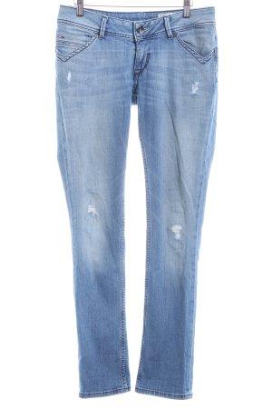 Hilfiger Denim Straight-Leg Jeans stahlblau-hellbeige Casual-Look