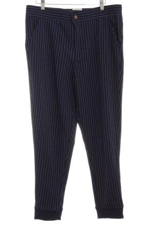 Hilfiger Denim Pantalon strech bleu foncé-blanc rayure fine style décontracté