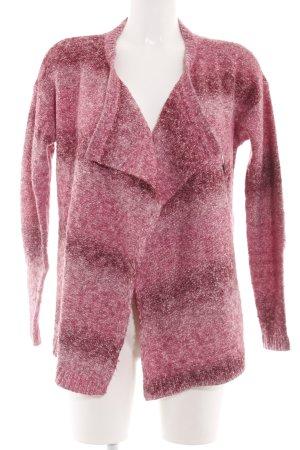 Hilfiger Denim Strick Cardigan pink-weiß meliert Casual-Look