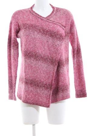 Hilfiger Denim Strick Cardigan pink-lila Streifenmuster Casual-Look
