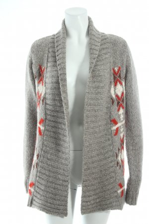Hilfiger Denim Strick Cardigan Ethnomuster Kuschel-Optik