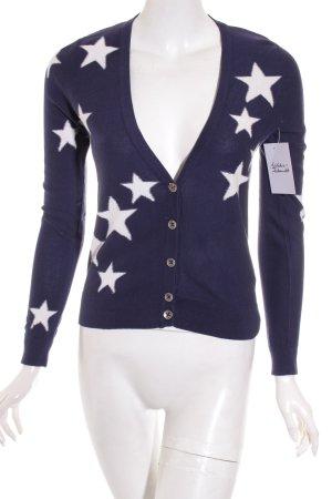 Hilfiger Denim Strickjacke weiß-dunkelblau Sternenmuster Casual-Look