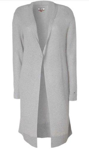 Hilfiger Denim Knitted Coat light grey mohair
