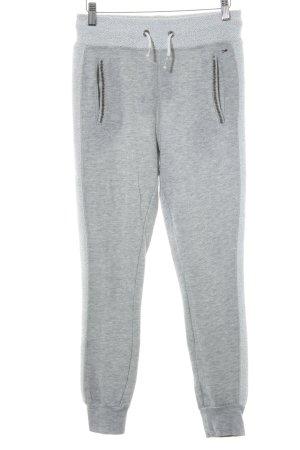 Hilfiger Denim Pantalon de jogging gris clair-blanc style athlétique