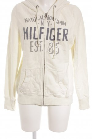 Hilfiger Denim Sweatjacke creme-graublau grafisches Muster Casual-Look