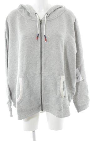 Hilfiger Denim Sweat Jacket light grey-natural white flecked athletic style