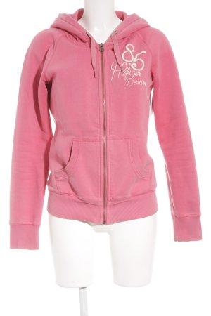 Hilfiger Denim Sweatjacke rosa-wollweiß schlichter Stil