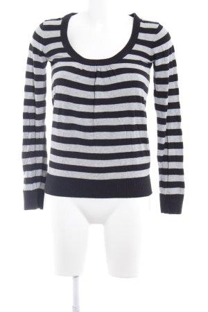 Hilfiger Denim Sweatshirt grau-schwarz Streifenmuster Casual-Look