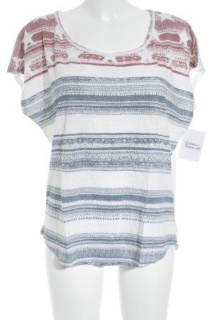 Hilfiger Denim T-Shirt abstraktes Muster Casual-Look