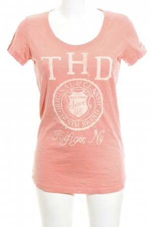 Hilfiger Denim T-shirt albicocca Stampa a tema stile casual