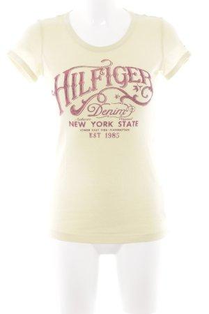 Hilfiger Denim T-Shirt blassgelb Casual-Look