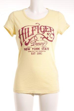Hilfiger Denim T-Shirt blassgelb-rot Casual-Look