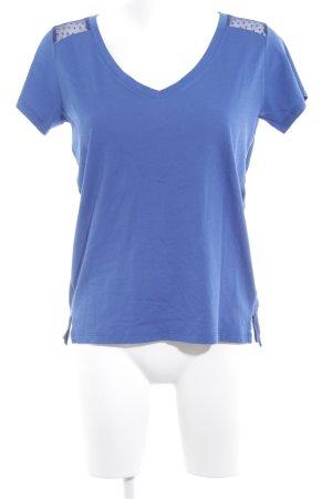 Hilfiger Denim T-Shirt blau Materialmix-Look