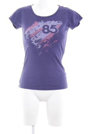 Hilfiger Denim T-Shirt blauviolett Motivdruck sportlicher Stil
