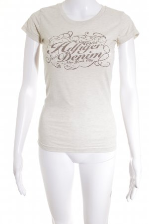Hilfiger Denim T-Shirt creme meliert Street-Fashion-Look
