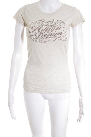 Hilfiger Denim T-Shirt cream flecked street-fashion look