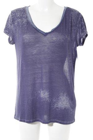 Hilfiger Denim T-Shirt dunkelblau-himmelblau Farbtupfermuster Casual-Look