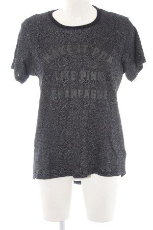Hilfiger Denim T-Shirt dunkelblau-silberfarben Schriftzug gedruckt Casual-Look