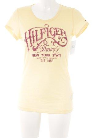 Hilfiger Denim T-Shirt gelb-dunkelrot Casual-Look