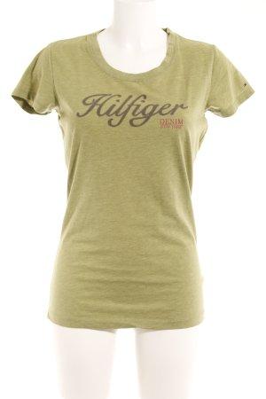 Hilfiger Denim T-Shirt grau-olivgrün Casual-Look