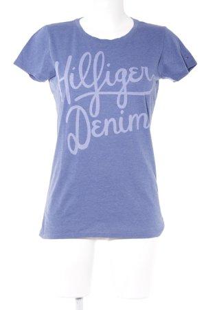 Hilfiger Denim T-Shirt graublau-himmelblau meliert Logoprint