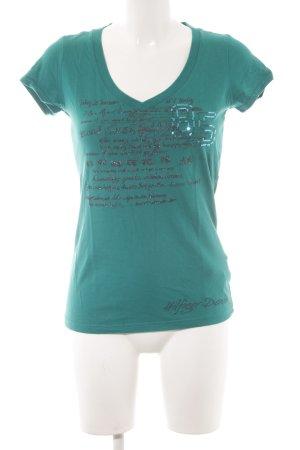 Hilfiger Denim T-Shirt kadettblau Schriftzug gedruckt Casual-Look