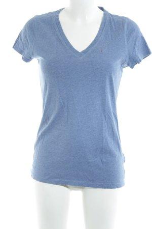 Hilfiger Denim T-Shirt kornblumenblau meliert Casual-Look