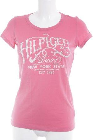 Hilfiger Denim T-Shirt magenta Casual-Look