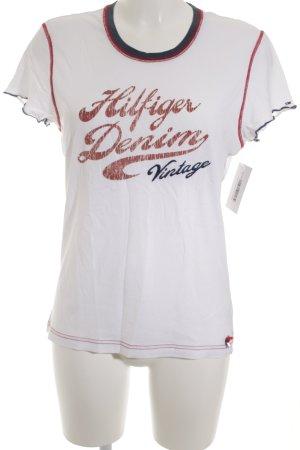Hilfiger Denim T-Shirt mehrfarbig Casual-Look