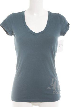 Hilfiger Denim T-Shirt petrol sportlicher Stil