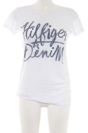 Hilfiger Denim T-Shirt platzierter Druck Casual-Look