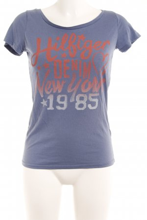 Hilfiger Denim T-Shirt rot-stahlblau Casual-Look
