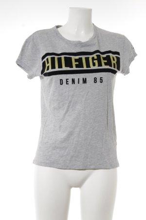 Hilfiger Denim T-Shirt Schriftzug gedruckt Casual-Look