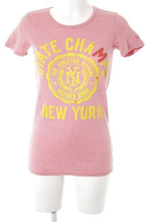 Hilfiger Denim T-Shirt Schriftzug gedruckt sportlicher Stil