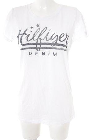 Hilfiger Denim T-Shirt weiß-dunkelblau Casual-Look