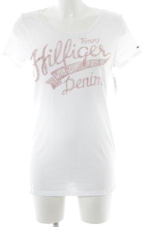 Hilfiger Denim T-Shirt weiß-dunkelrot Casual-Look