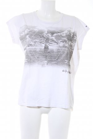 Hilfiger Denim T-Shirt weiß-grau Motivdruck Casual-Look