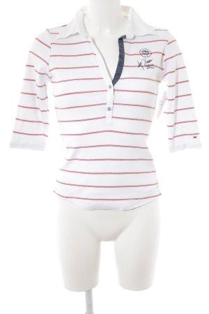 Hilfiger Denim T-Shirt weiß-ziegelrot Streifenmuster Casual-Look