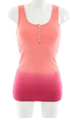 Hilfiger Denim Tanktop pink Farbverlauf Casual-Look