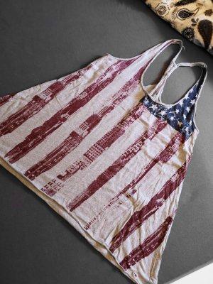 Hilfiger Denim Top – Mittelgrau mit Amerika-Flaggen-Optik