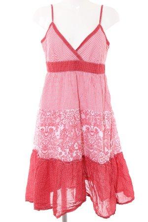 Hilfiger Denim Trägerkleid rot-weiß abstraktes Muster Casual-Look