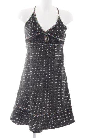 Hilfiger Denim Trägerkleid schwarz-weiß Punktemuster Casual-Look