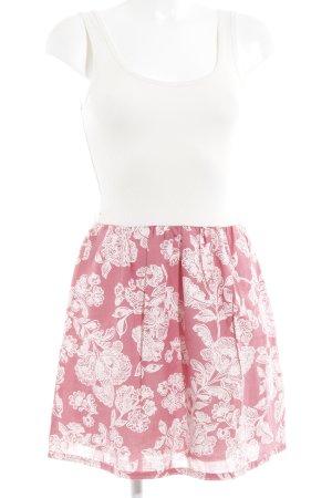 Hilfiger Denim Trägerkleid wollweiß-pink Blumenmuster Casual-Look