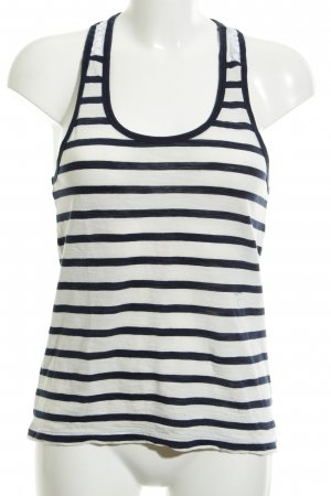 Hilfiger Denim Strappy Top white-dark blue striped pattern casual look