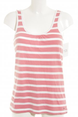 Hilfiger Denim Strappy Top white-pink striped pattern casual look